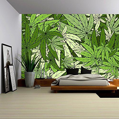 Vector Marijuana background EPS 10 vector stock illustration