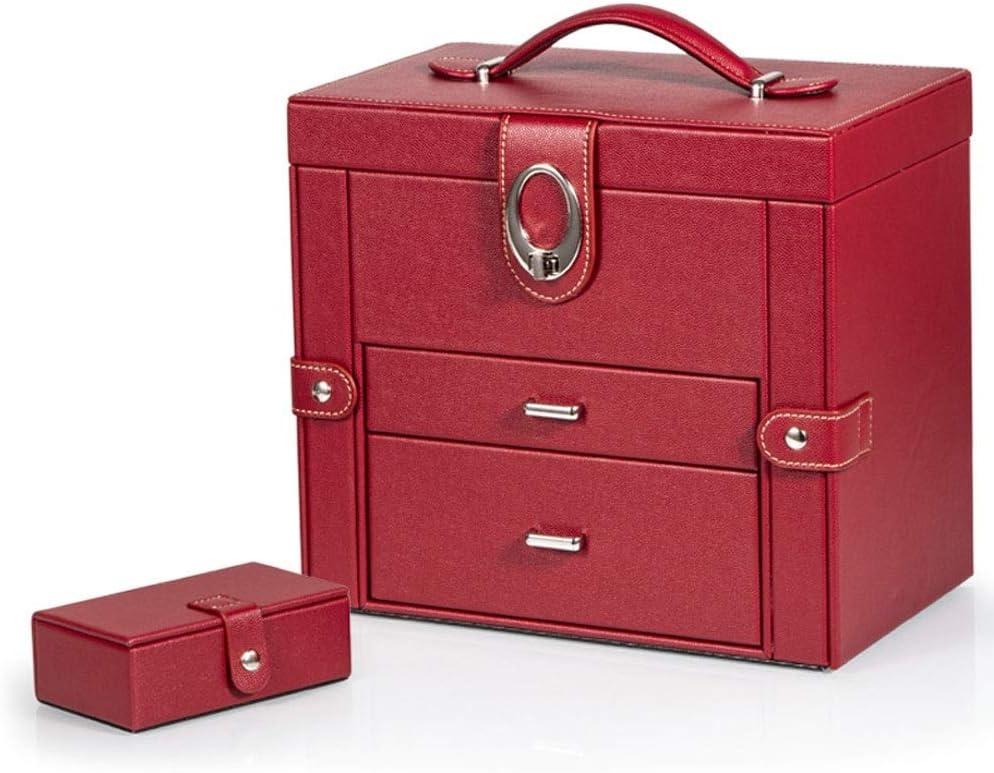 ジュエリー収納ケース ストレージコレクションディスプレイ装飾ボックスを仕上げジュエリーボックスレザージュエリー収納ボックス王女の宝石収納ボックス ZHGING