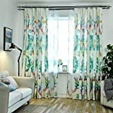 AiFish Living Room Cloth Curtains Grommet Window Drape Panels Green Plants Plants Cactus Patterns Curtains to Refresh Home 96 Inches Long for Spring and Summer Mother Day Gifts 1 Panel W39 x L96 inch