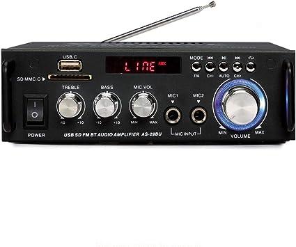 Amplificador de Karaoke inalámbrico Bluetooth PA -180 vatios ...
