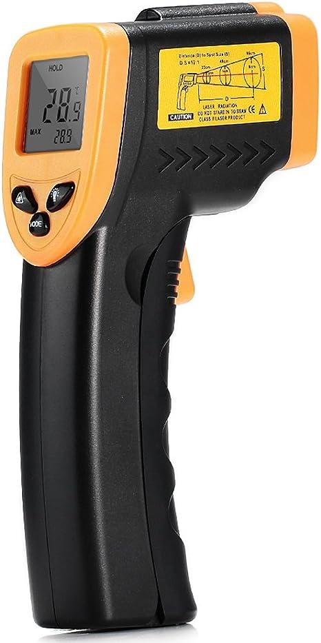Pistolet Infrarouge de temp/érature de thermom/ètre de Laser de Digital sans Contact pour Le Four de Piscine de r/éfrig/érateur de Viande Yunt-11 M/ètre Infrarouge de Digital