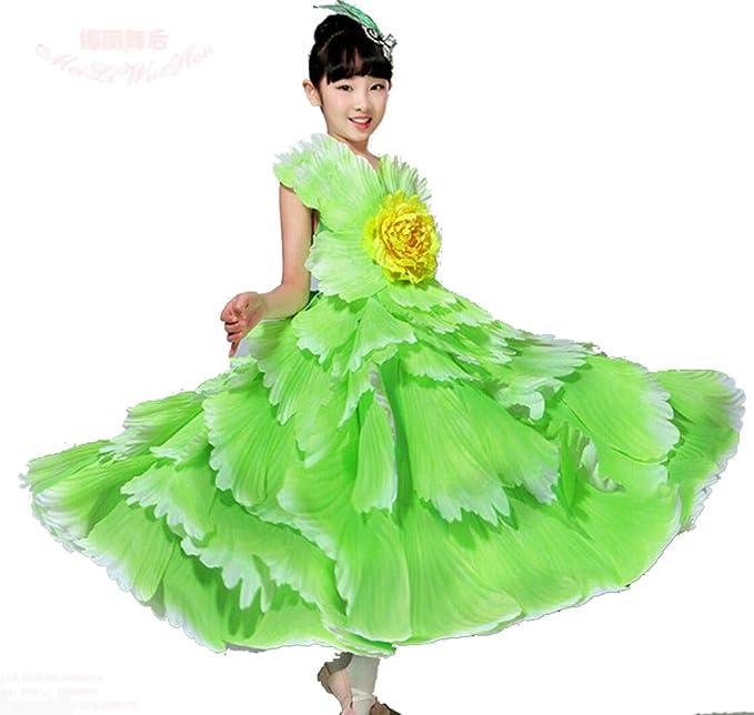 SMACO Vestido español para niñas Baile Flamenco Faldas gitanas ...