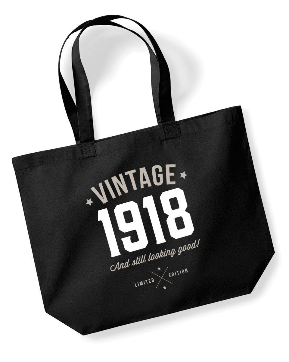 100th Birthday, 1918 Keepsake, Funny Gift, Gifts For Women, Novelty Gift, Ladies Gifts, Female Birthday Gift, Looking Good Gift, Ladies, Shopping Bag, Present, Tote Bag, Gift Idea