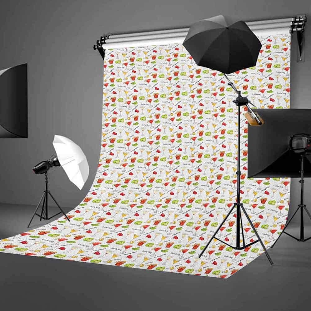 7x10 FT Cat Vinyl Photography Backdrop,Colorful Cats in Different Poses Pussycat Domestic Friends Companions Modern Illustration Background for Baby Birthday Party Wedding Studio Props Photography