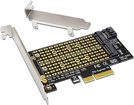 P Prettyia Adaptador De Disco Duro NVME PCL-E3.0 X4 Interfaz SSD M2 A: Amazon.es: Electrónica