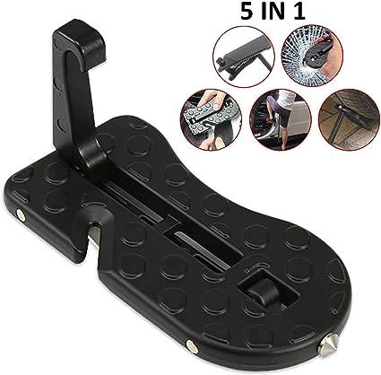AOLVO - Escalera para Puerta de Coche, 5 en 1, portátil, con función de Martillo de Seguridad para Coche, Jeep SUV (Negro): Amazon.es: Coche y moto