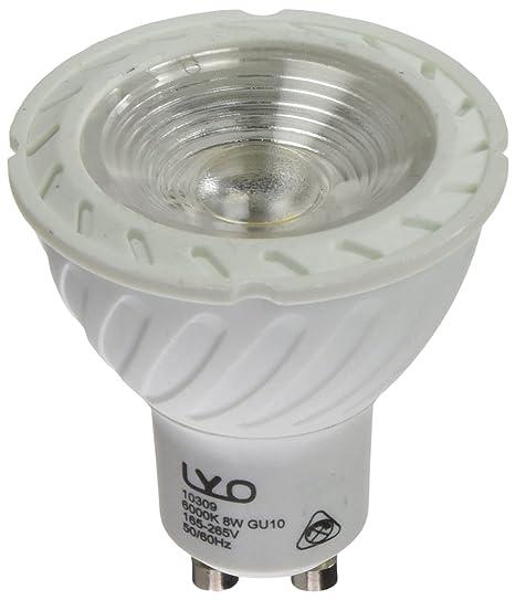 LYO Bombilla dicroica LED GU10, 8 W, Blanco: Amazon.es ...