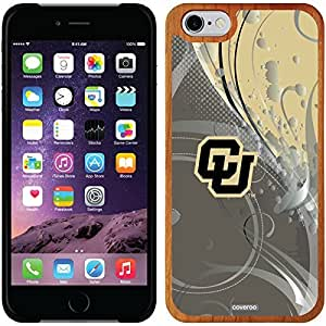 Coveroo iphone 5c Madera Wood Thinshield Case with University of Colorado Swirl Design