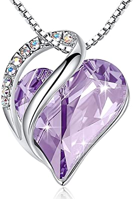 Fashion Love Heart Shaped Silver Tone Crystal Pendant Chain Necklace Jewelry New