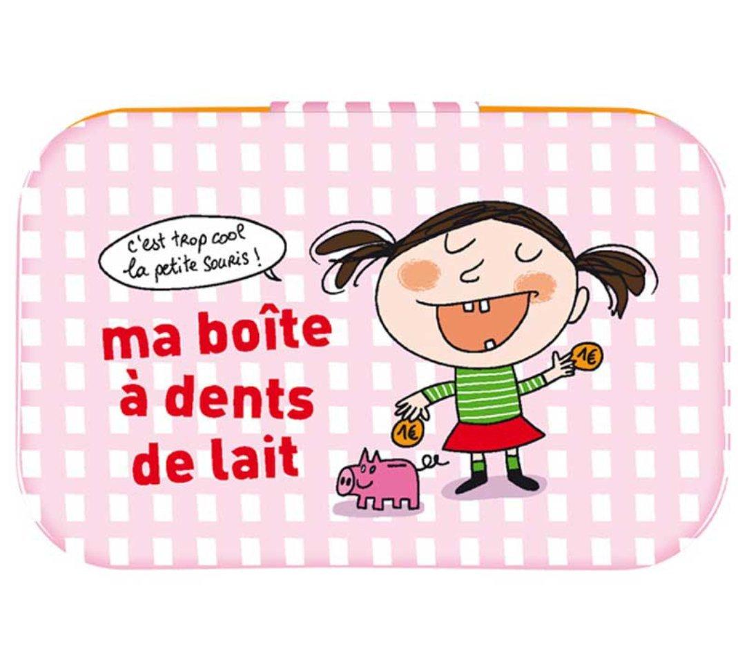 Boite à Dent de lait Fille - rose - Derrière la porte