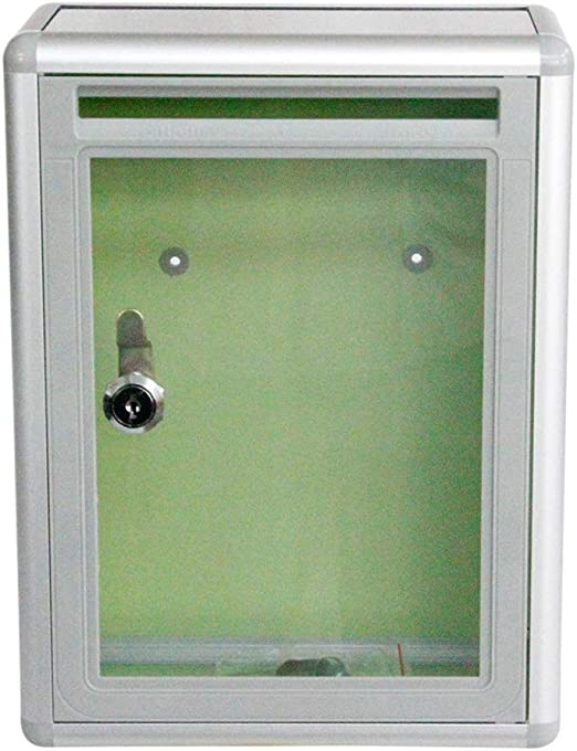 Toyvian Paint Post Box Wall Mounted Postbox Clear Ballot Suggestion Box