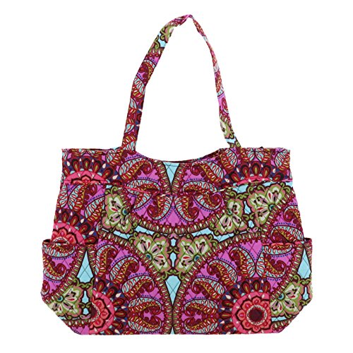 Vera Bradley Pleated Tote (Resort Medallion)
