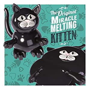 Two's Company Melting Kitten - Putty Slowly Melts Over Approx 30 Minutes - Fun Novelty Toy