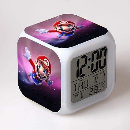 Amazon.com: USB Cable+Gift Box Super Mario LED Digital Alarm ...