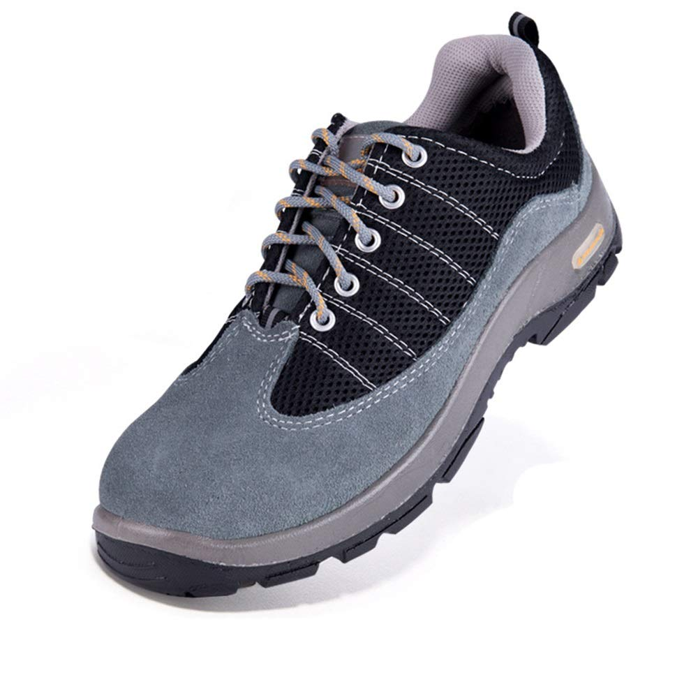 ZHRUI Mens Sicherheitsschuhe Composite Composite Composite Stahl Zehe Atmungsaktive Punture Resistance Schuhe (Farbe   Schwarz Größe   EU 43) 366a73