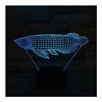 Optique Poisson Led Table Chevet IllusionLumière De Nuit QexoWrCdB
