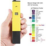SAFESEED Digital LCD Pocket Pen type pH meter for Water purity Pool Aquarium measurement