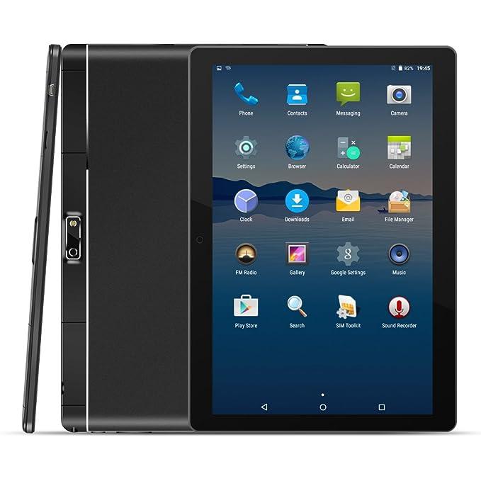 Kivors 10.1 Pulgadas IPS HD 4G Tablet PC Quad-Core Ranura para Tarjeta Dual Sim Doble Cámara Ultra Slim Tablet PC WiFi GPS Google Play Store Bluetooth ...