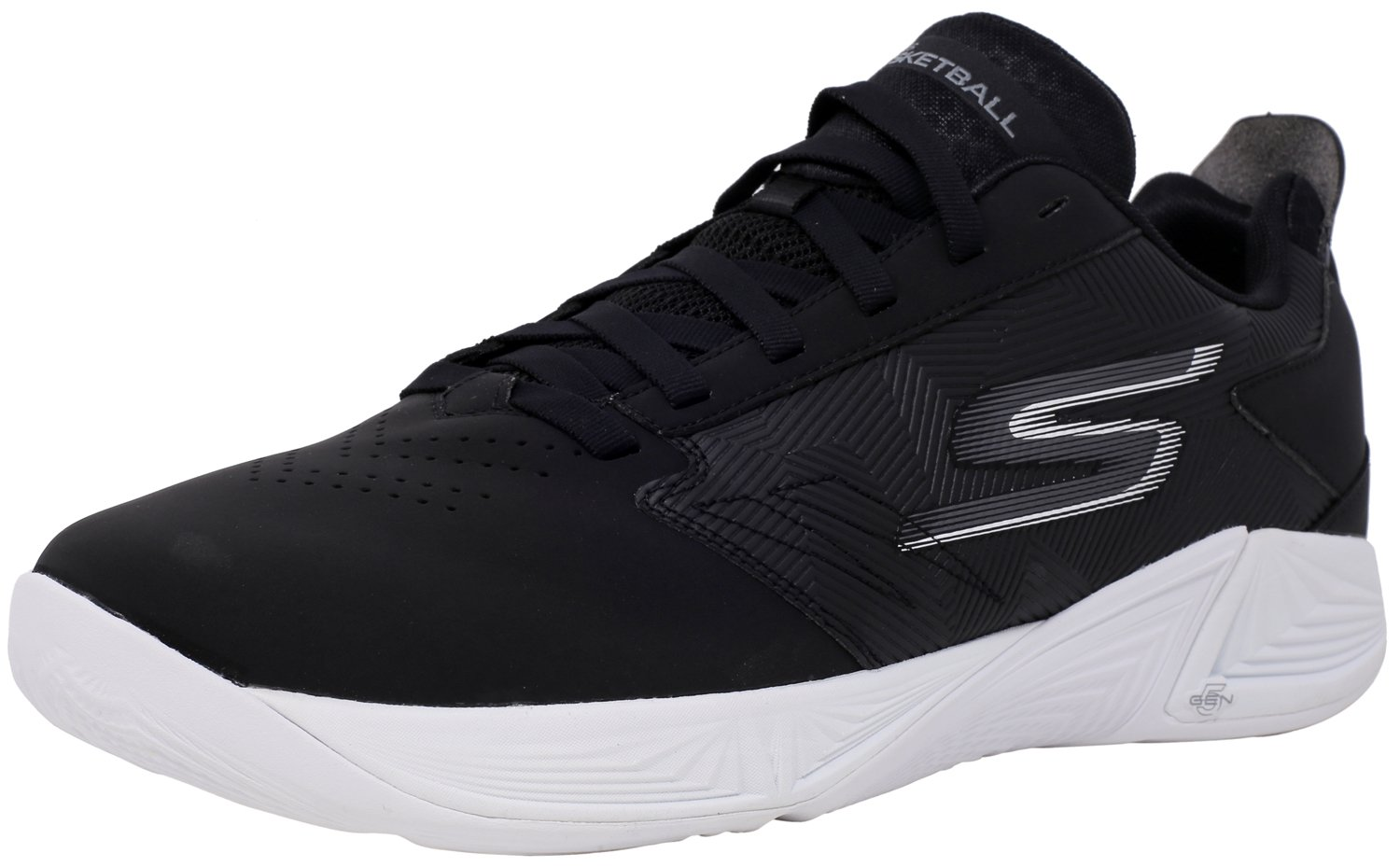999a11eac667 Galleon - Skechers Men s Torch - Lt Black White Ankle-High Basketball Shoe  9.5M