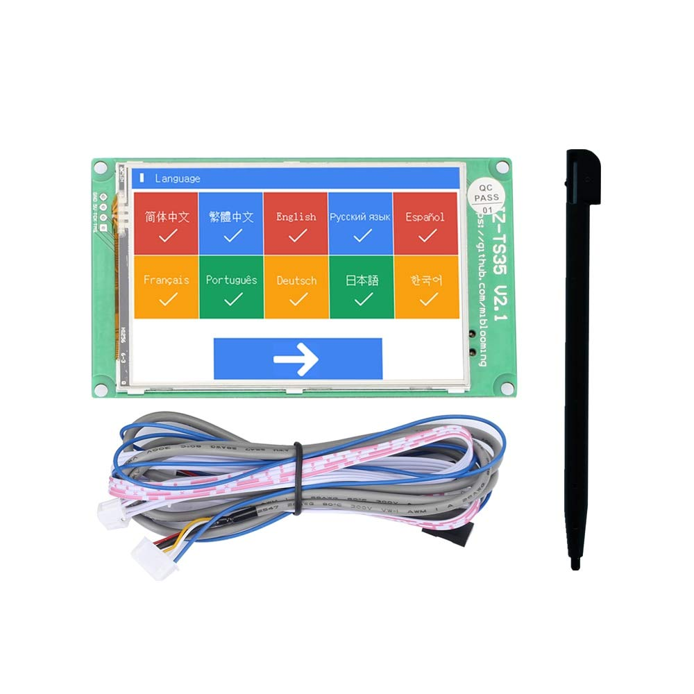 Zamtac Jz-Ts35 3.5-Inch Touch Screen Display Board Compatible with Ramps1.4 Mega2560 Marlin 3D Printer Accessories - (Size: -)