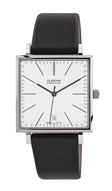 Dugena Premium - Reloj analógico de cuarzo para hombre con correa de piel, color negro