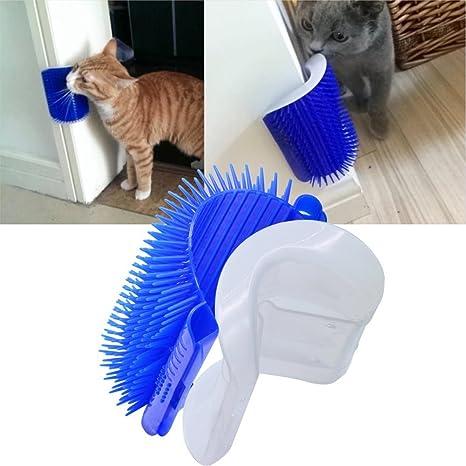 Pekki Gato auto Groomer con gato, esquina de masaje peine, masaje herramienta perfecta para