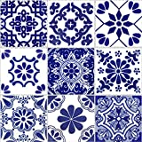 Tile Stickers Spanish Mexican Mix 40pc 6x6in Peel and Stick for kitchen and bath Tr007-6 40pcs