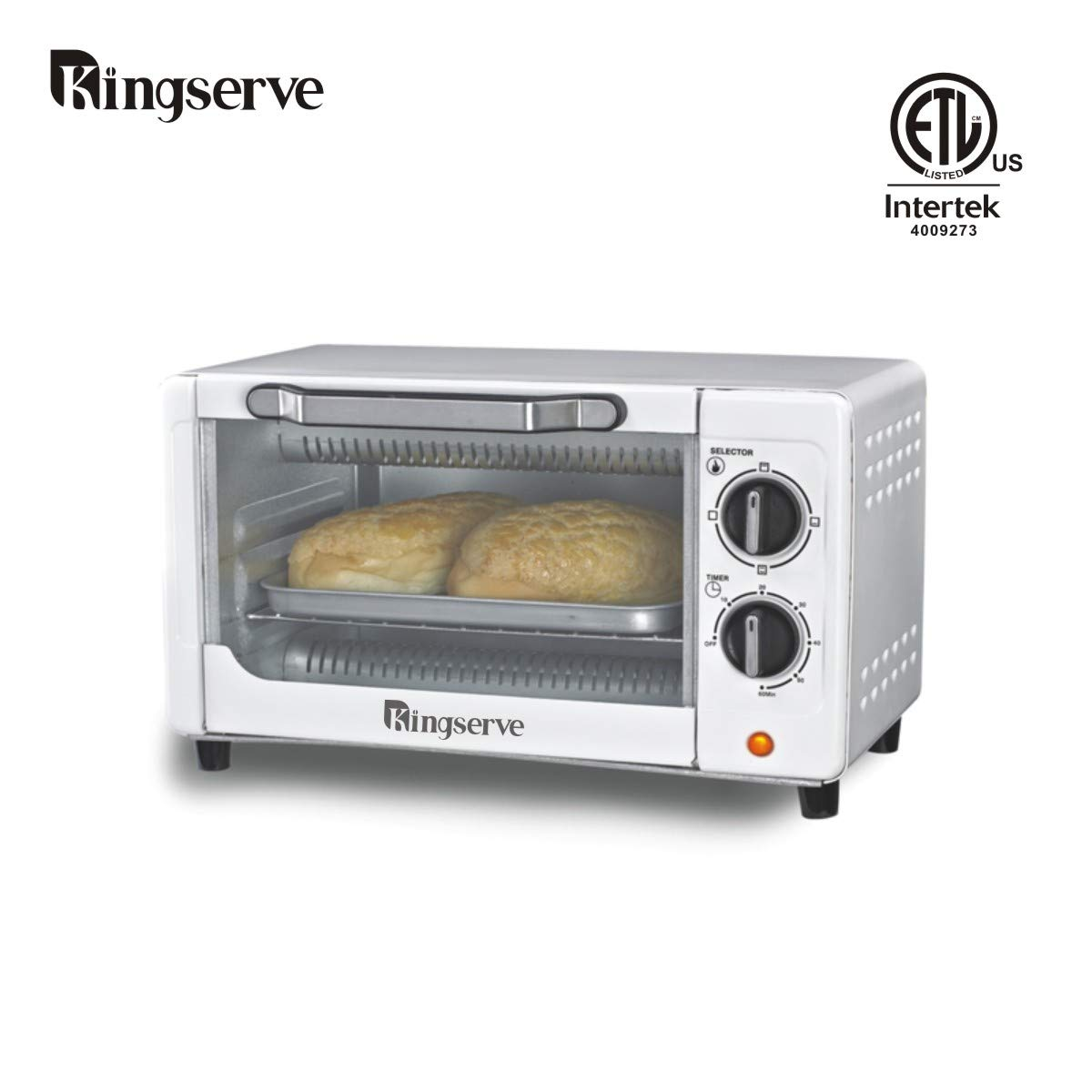KingServe Convection Bake Oven,Small Toaster Ovens Countertop,Small Kitchen Appliances Compact Toaster Oven Counter Tabletop High Quality Oven,Stainless Steel Exterior Oven(Silver)