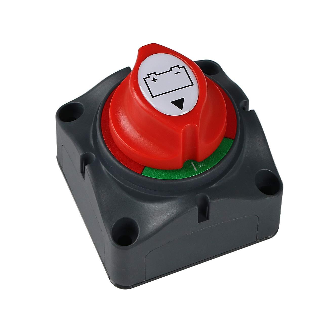 Battery Power On Off Switch Battery Isolator Switch Master Cutoff Switch for Marine Boat Car RV ATV UTV Vehicle 300//10000 Amps