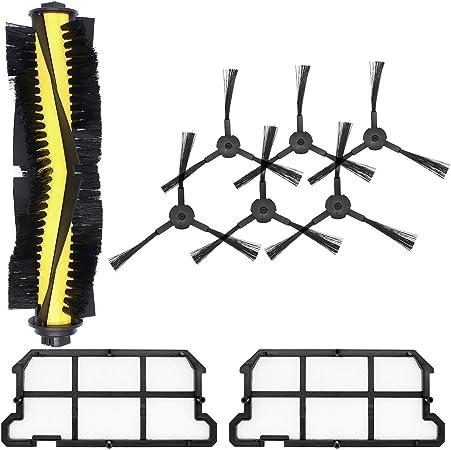 DingGreat Kit de Reemplazo para ILIFE V7 V7s V7s Pro Robot Aspirador Piezas de Repuesto con 1 Cepillo Principal + 6 cepillos Laterales + 2 filtros: Amazon.es: Hogar