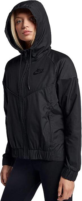 0a481f54c5220 Nike Women's Sportswear Windrunner Jacket (XXL, Black/Black) at ...