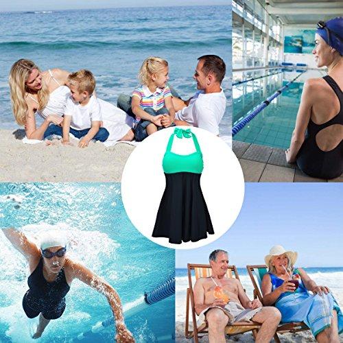 Skirt Verde Swimwear bagno Costume One With Piece Summer da fba Alicecoco donna wAU7z