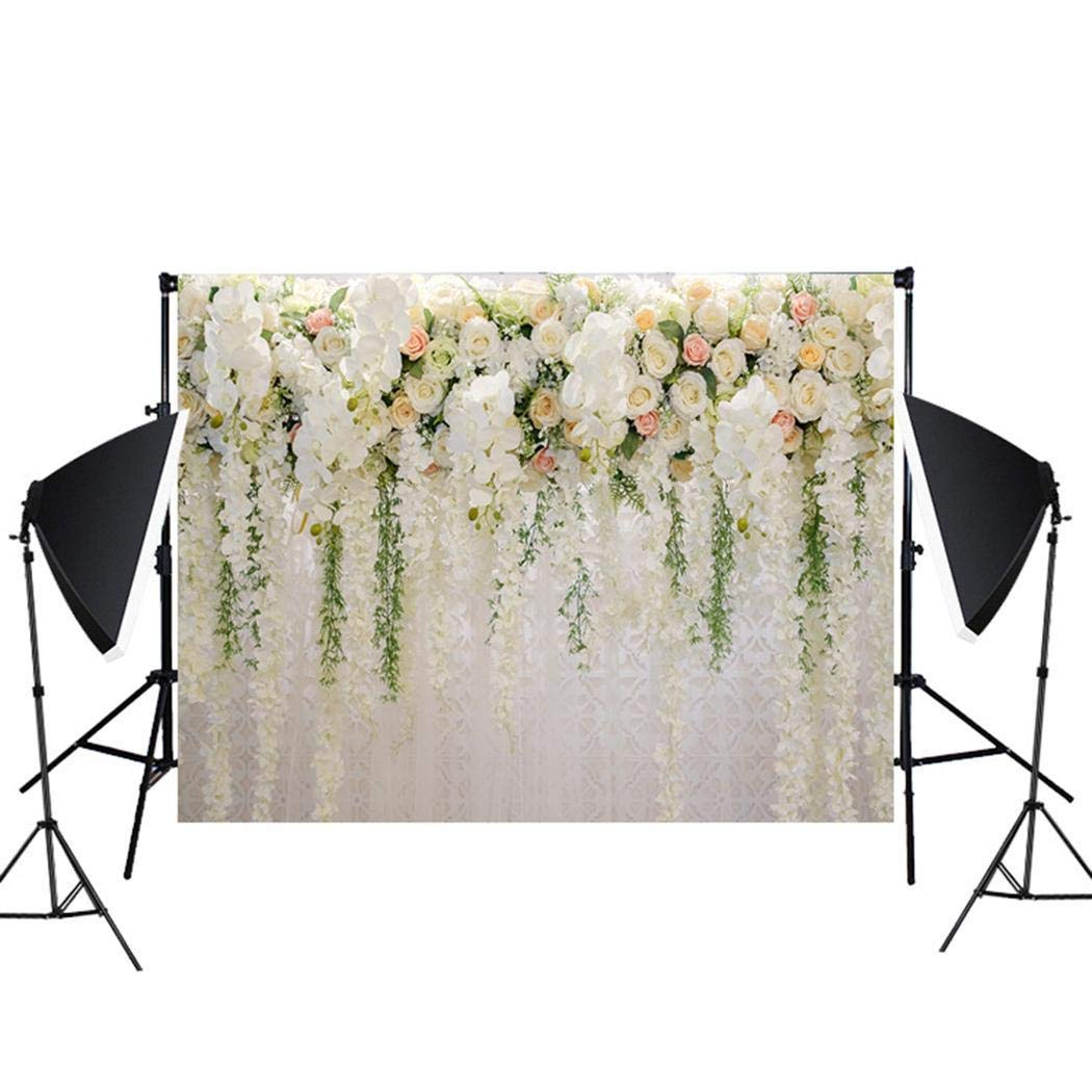 Lantusi Flower Wall Wedding Photography Props 3D Photo Background Cloth Backgrounds