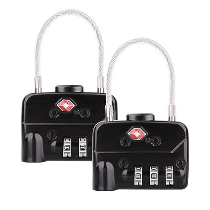 Candados de equipaje aprobados por la TSA - combinación de 3 dígitos - Candados de viaje