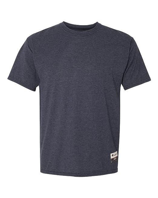 ecfaa42dea93 Champion Mens Authentic Originals Soft-Wash Short Sleeve T-Shirt ...
