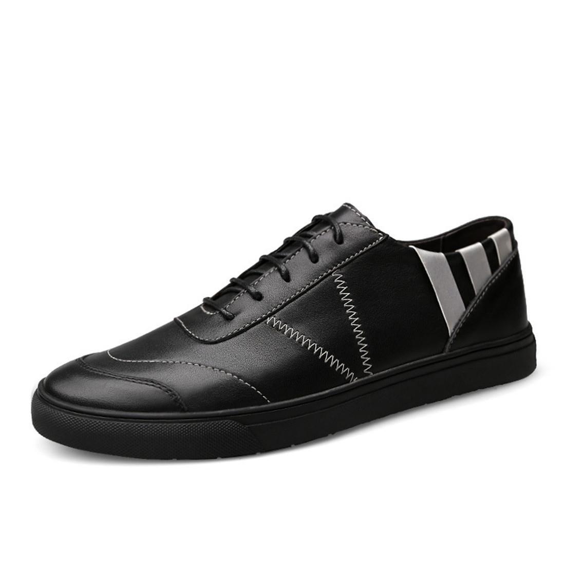 Herren Mode Freizeit Lederschuhe Flache Schuhe Ausbilder Rutschfest Lässige Schuhe Große Größe EUR GRÖSSE 38-46