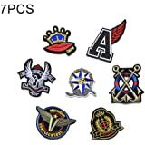 iDream Iron on patches, Assorted Size Iron Embroidery Appliqué Decoration DIY Patch for Jeans Clothing etc (Theme H)
