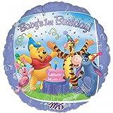 Anagram Winnie The Pooh Babys 1st Birthday Foil Balloon (One Size) (Blue)
