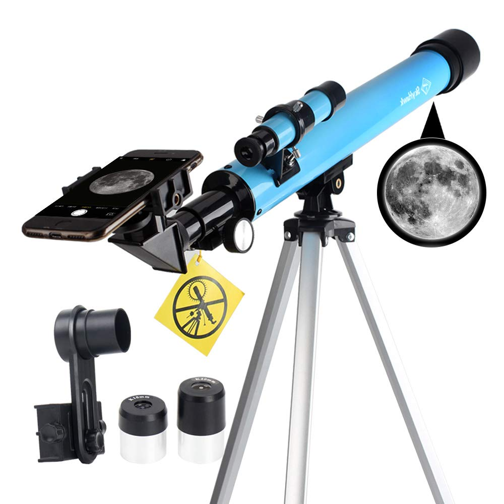 Kids Telescope AZ50600 for Beginners-Refractor Telescope with Adjustable Tripod & Smartphone Adapter & Finder Scope- Portable Travel Telescope Perfect for Kids Children Teens by DoubleSun