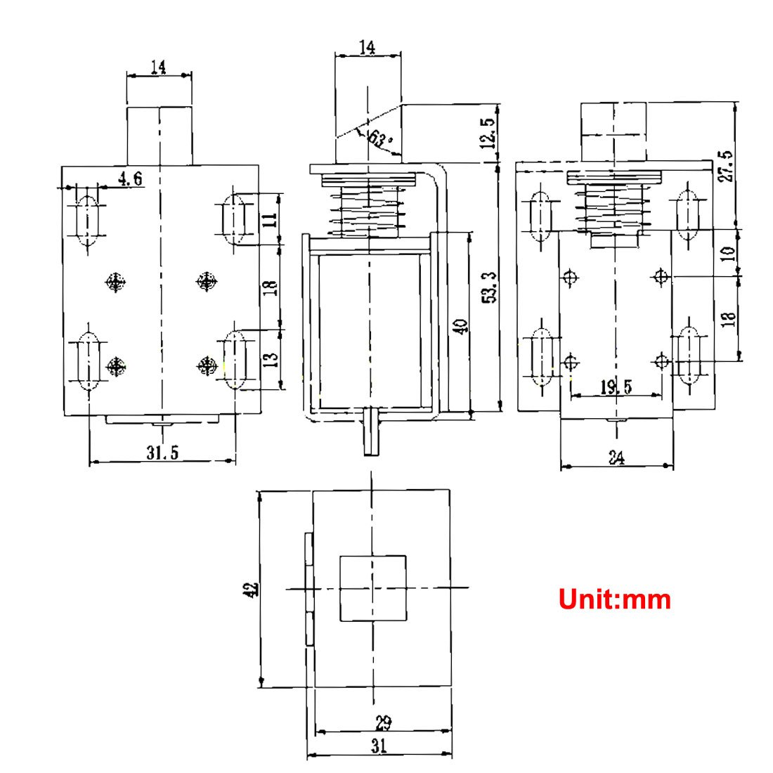 uxcell DC 12V Open Frame Type Solenoid for Electric Door Lock on