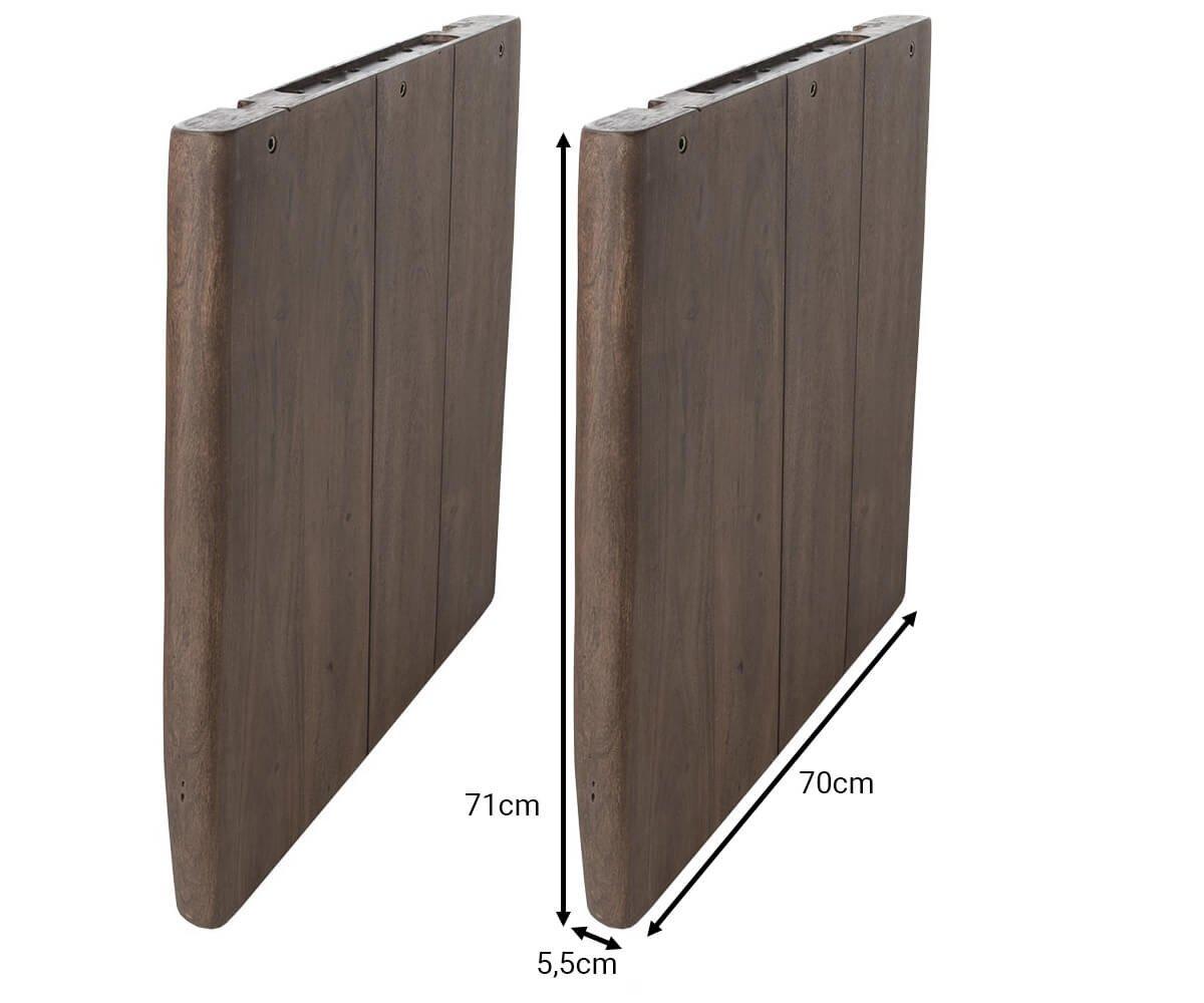 DELIFE Tischgestell Massivholz Akazie Akazie Akazie Natur 70x5,5 cm Tischbeine Gestell (2er Set) B07CPFS4XC | Hochwertige Produkte  62a5a8