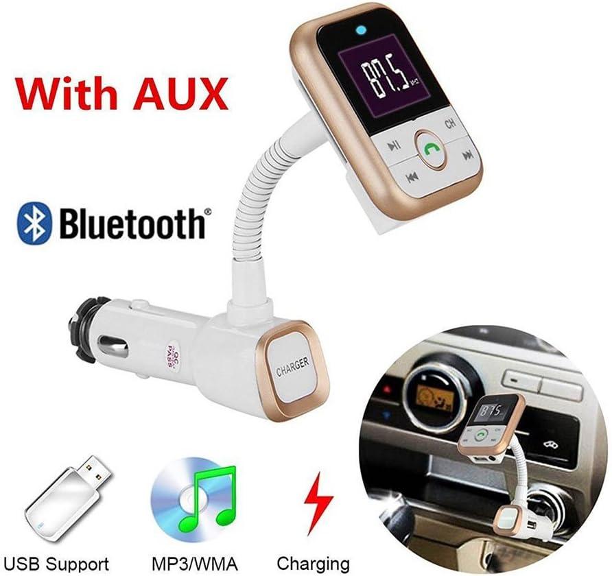 EINCAR Car MP3 Player 3.5mm Car Audio Cable Car FM Transmitter Charger Hands-Free Calls USB Slot LED Indicator