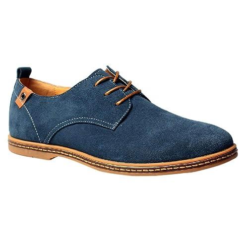 5c256886 Daytwork Hombre Zapatos Cordones - Retro Británico Estilo Gamuza Boda Derby Cuero  Oxford Casual: Amazon.es: Zapatos y complementos