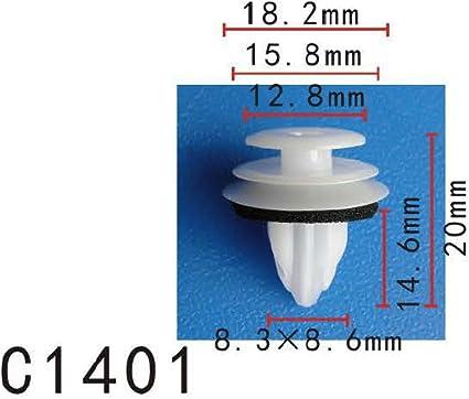 10 x Clip Garniture Panneau Moulage Peugeot 8mm oem de qualité
