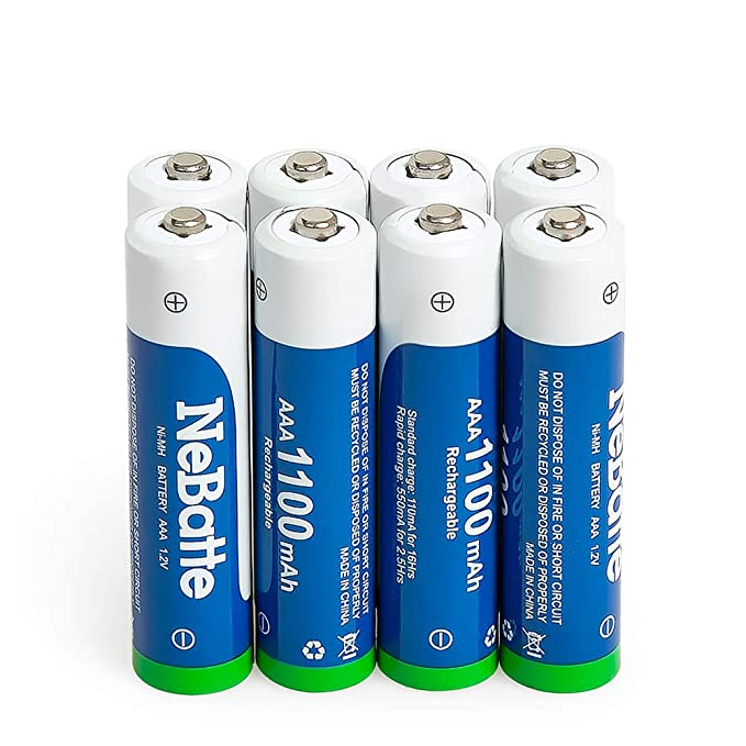 142 opinioni per NeBatte 8x AAA 1100mAh 1.2V Ni-MH Pile Ricaricabili ministilo batterie 8 pezzi