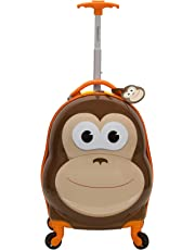 Rockland Jr. Kids' My First Luggage Polycarbonate Hardside Spinner, MONKEY