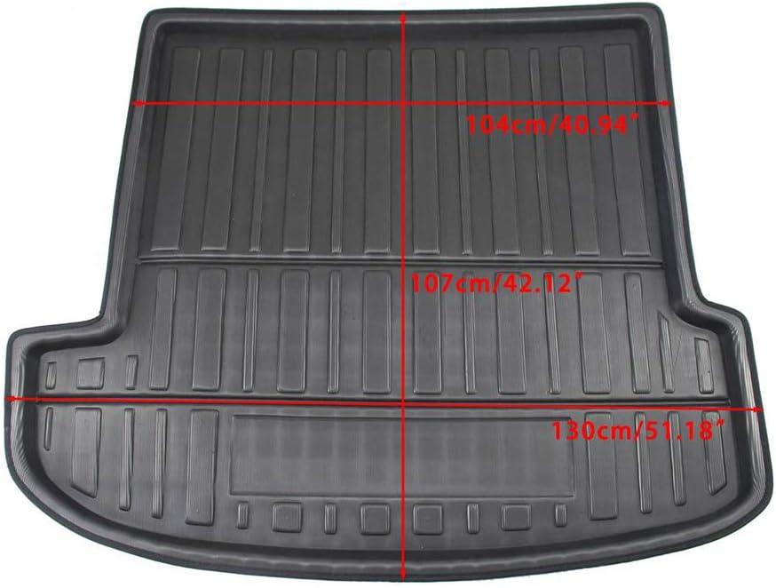Impermeable Lavable para Hyundai Santa FE 2019 2020 Bandeja Forro Cargo Boot Mats Protection Kick Storage Pad Antideslizante BTSDLXX Coche Alfombrillas para Maletero