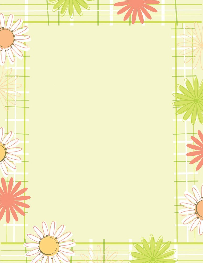 Great Papers! Bright Floral Letterhead, 80 Count, 8.5x11 (2014333) 8.5x11 (2014333)