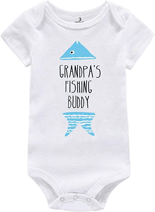 Cutest Catch Fishing Rod Cute Boys Baby Grow Bodysuit