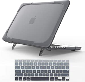 "For Macbook Pro 15 Retina Case,StrongCase [Heavy Duty][Dual Layer] Hard Case Cover with Plastic Bumper for Apple Macbook Pro 15.4"" with Retina Display (Compatible with A1398 2012-2015 Release) - Grey"